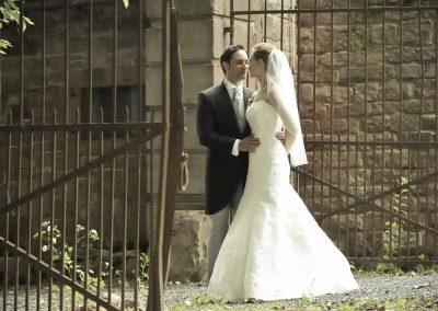 Hochzeitspaarfotos im Freien