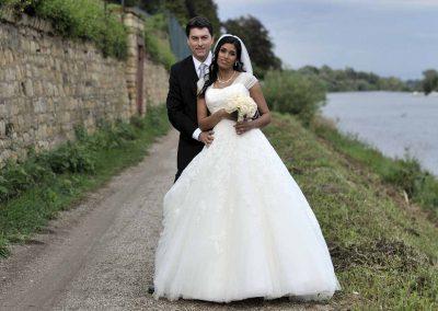 Hochzeitspaar in Eltville am Rhein