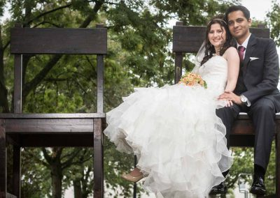 Hochzeitspaar im Kurpark in Bad Vilbel